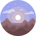 Altitude, landscape, nature, mountains LightSteelBlue icon