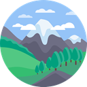 landscape, nature, mountains, Altitude LightSkyBlue icon