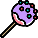 sweet, Dessert, stick, Lollipop, food Black icon