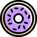 baker, Dessert, food, doughnut, donut, sweet Plum icon