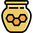sweet, pot, healthy, Honey, food, Jar, Bee SandyBrown icon