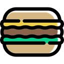 food, sweets, Dessert, Bakery, macaroon Black icon