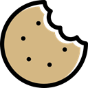 cookie, Biscuit, food, baker, Dessert, Bakery Tan icon
