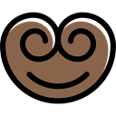 Pastry, food, Bakery, Palmier, Dessert Sienna icon