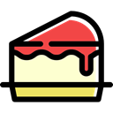Piece Of Cake, Dessert, food, sweet, Bakery Black icon