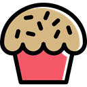 Bakery, food, baked, sweet, cupcake, muffin, Dessert Tan icon