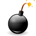 Bomb, hot Black icon