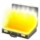 Briefcase, Full, pulp, fiction Yellow icon