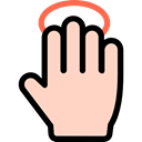 Multimedia Option, Gestures, tap, Hands, Finger PeachPuff icon