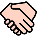 Gestures, Finger, Handshake, Hands PeachPuff icon