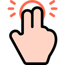 Finger, Hands, Multimedia Option, Gestures, tap PeachPuff icon