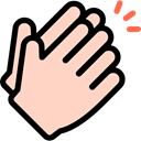 Gestures, Clap, Hands PeachPuff icon