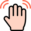 Finger, Waving Hand, Hands, Multimedia Option, Gestures PeachPuff icon