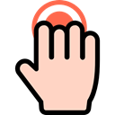 Finger, Hands, tap, Gestures, Multimedia Option PeachPuff icon