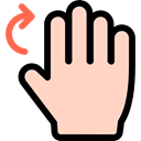 rotate, Gestures, Multimedia Option, Hands, Finger PeachPuff icon