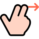 Hands, Gestures, Finger, Multimedia Option, Swipe Right PeachPuff icon