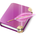 Notebook, Girl PaleVioletRed icon