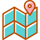 placeholder, position, Orientation, Geography, location, Maps And Flags, Map MediumTurquoise icon
