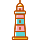 Lighthouse, Orientation, tower, Guide, buildings Black icon