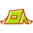 shelter, Camping, Tent, rural Black icon