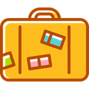 luggage, Business, Briefcase, baggage, travelling Orange icon