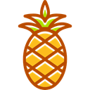 Fruit, vegan, Healthy Food, organic, vegetarian, food, natural, pineapple Black icon