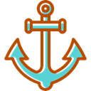 Anchor, Tools And Utensils, sailing, Anchors, tattoo, navy, sail Black icon