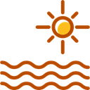 nature, Beach, sun, sea, ocean Black icon