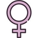 sign, woman, Gender, Girl, Femenine, signs, Female, venus, feminism, symbol Black icon