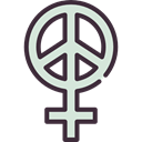 Gender, woman, feminism, Female, signs, sign, venus, symbol, Girl, Peace, Femenine Black icon