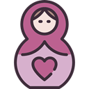 matryoshka, doll, russian, mother DarkSlateGray icon
