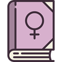 Gender, woman, Female, Girl, Book, symbol, feminism, Femenine, education, venus, sign Thistle icon