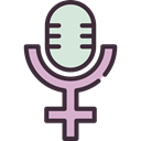 sign, venus, signs, Microphone, Gender, Girl, woman, Femenine, Female, Womens Voice, symbol, feminism Black icon