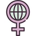 Femenine, woman, Gender, Women, sign, worldwide, signs, Girl, feminism, symbol, Female, venus Black icon