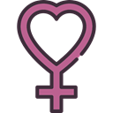 woman, feminism, love, Female, Gender, venus, symbol, sign, signs, Femenine, Girl, Heart Shape Black icon