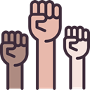 Fists, Hand Gesture, protest, Gestures DarkSlateGray icon