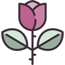 Botanical, garden, rose, Flower, blossom, nature Black icon