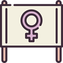 sign, venus, feminism, symbol, Femenine, signs, woman, Girl, Female, Gender, banner Beige icon