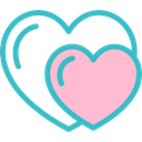 Hearts, love, romantic Pink icon