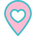 placeholder, Heart, signs, Wedding Location, pin, Gps Pink icon