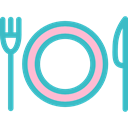 Wedding Dinner, Restaurant, Dish, Knife, Tools And Utensils, Plate, Cutlery, Fork MediumTurquoise icon