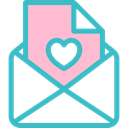 Love Letter, Hearts, romance, romantic, Valentines Day MediumTurquoise icon