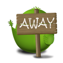 away, bird Black icon