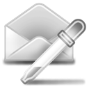 extract, mail Black icon