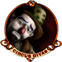 Clown, hobo Black icon