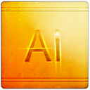 Ai, Blue, Arts DarkOrange icon