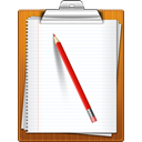 paper, pencil, Clipboard WhiteSmoke icon