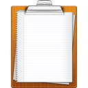 Clipboard, paper WhiteSmoke icon
