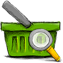 Basket, search OliveDrab icon