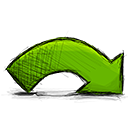 Redo, Arrow OliveDrab icon